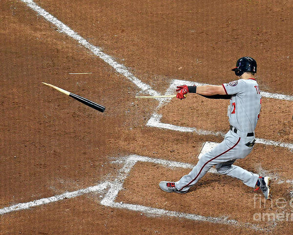 Atlanta Poster featuring the photograph Trea Turner by Scott Cunningham