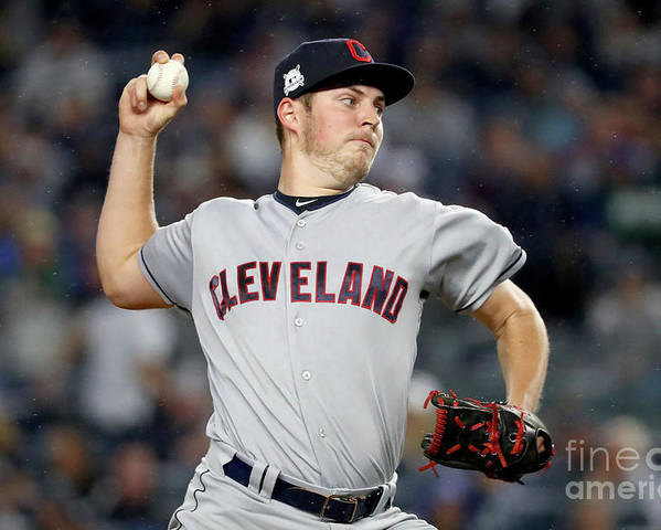 Three Quarter Length Poster featuring the photograph Trevor Bauer by Al Bello