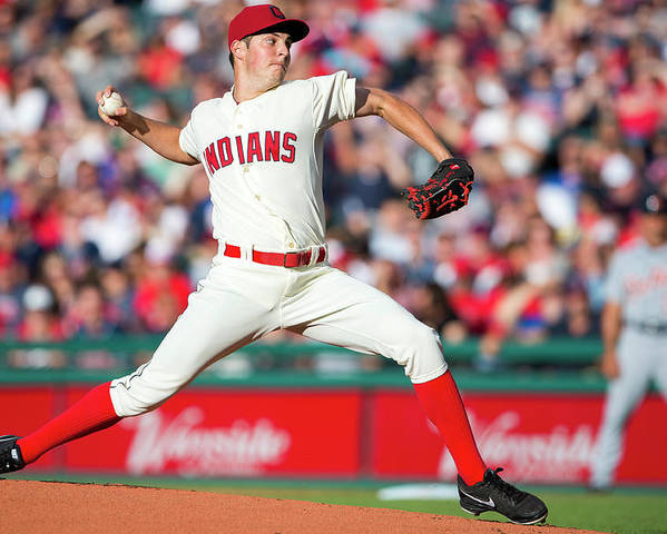 American League Baseball Poster featuring the photograph Trevor Bauer by Jason Miller