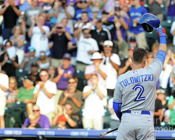 Crowd Poster featuring the photograph Troy Tulowitzki by Bart Young