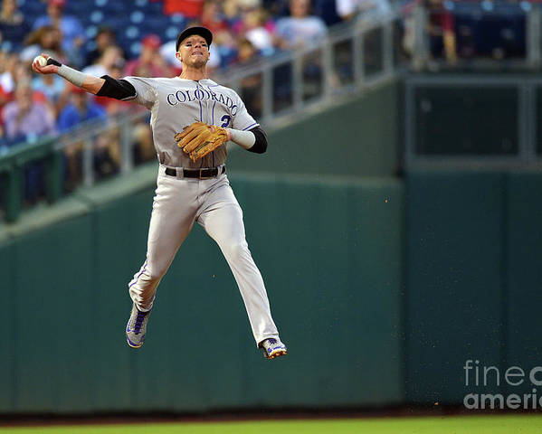 Second Inning Poster featuring the photograph Troy Tulowitzki by Drew Hallowell