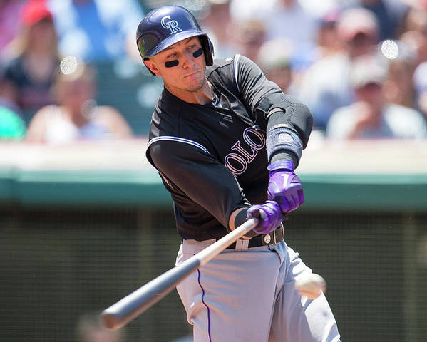 American League Baseball Poster featuring the photograph Troy Tulowitzki by Jason Miller