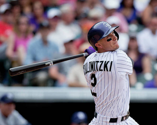 National League Baseball Poster featuring the photograph Troy Tulowitzki by Justin Edmonds
