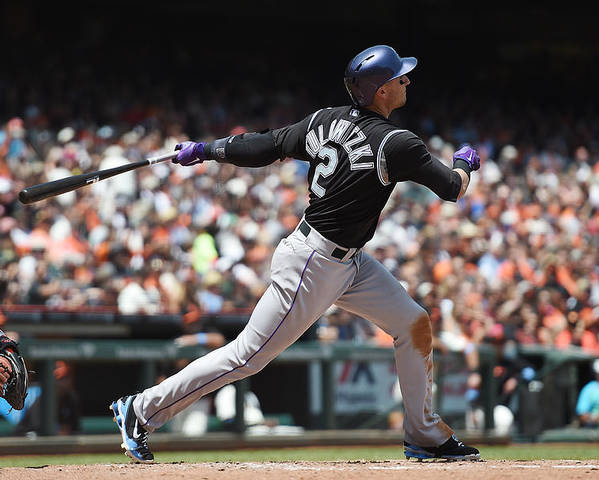 San Francisco Poster featuring the photograph Troy Tulowitzki by Thearon W. Henderson