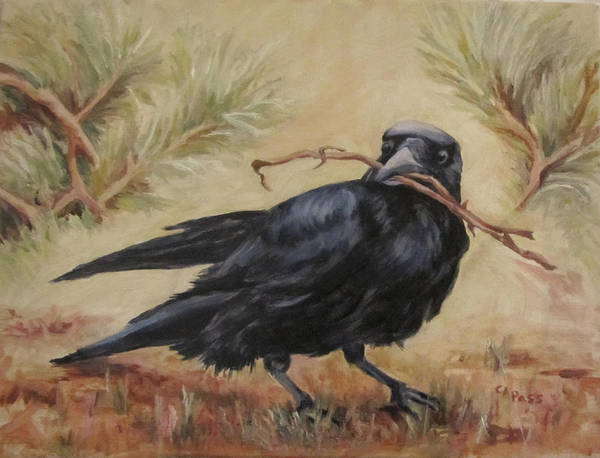 Wildlife Poster featuring the painting Twig Thief by Cheryl Pass
