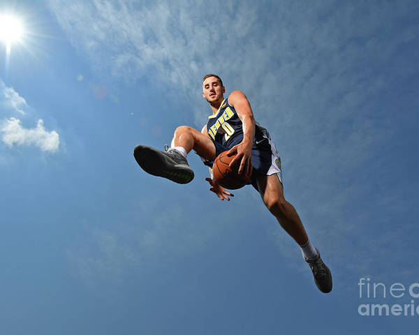 Nba Pro Basketball Poster featuring the photograph Tyler Lydon by Jesse D. Garrabrant