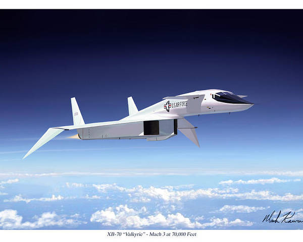 Aviation Poster featuring the painting Valkyrie - Mach 3 At 70000 Feet by Mark Karvon