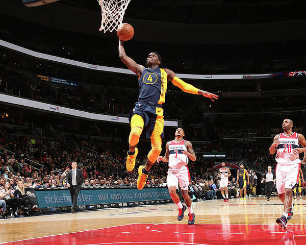 Nba Pro Basketball Poster featuring the photograph Victor Oladipo by Ned Dishman