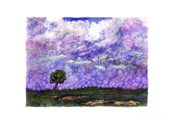 Clouds Poster featuring the painting Voices in The Sky by Karen Wheeler