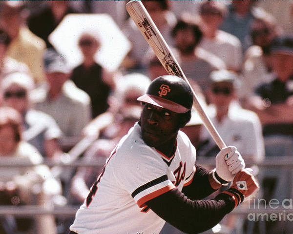 Candlestick Park Poster featuring the photograph Willie Mccovey by Mlb Photos