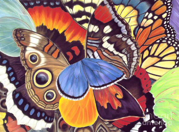 Butterflies Poster featuring the painting Wings Of California by Lucy Arnold