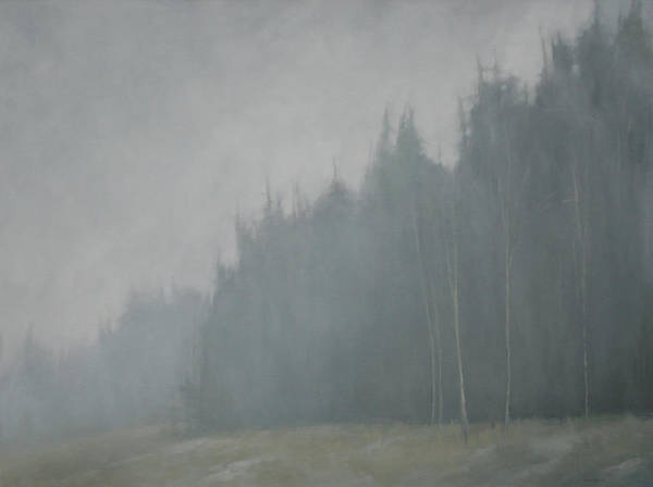 Poster featuring the painting Woods Whisper by Mary Jo Van Dell