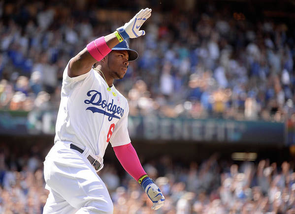 American League Baseball Poster featuring the photograph Yasiel Puig by Harry How