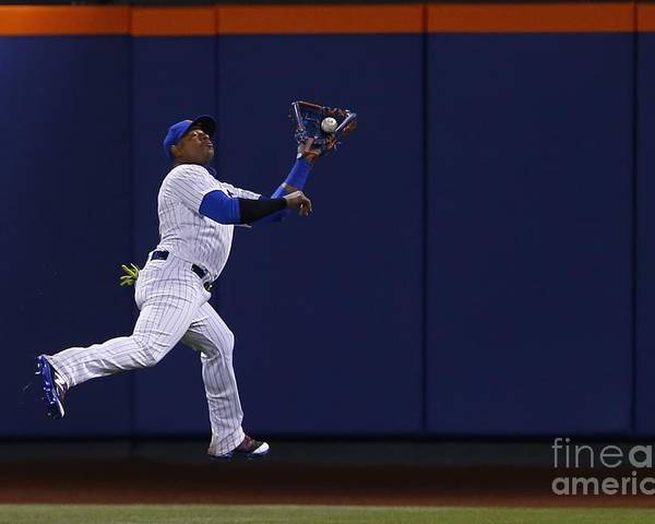 Yoenis Cespedes Poster featuring the photograph Yoenis Cespedes and Peter Bourjos by Rich Schultz