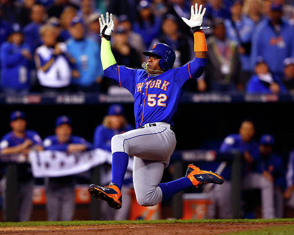 Yoenis Cespedes Poster featuring the photograph Yoenis Cespedes by Jamie Squire