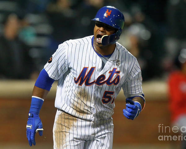 Yoenis Cespedes Poster featuring the photograph Yoenis Cespedes by Jim Mcisaac