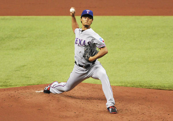 American League Baseball Poster featuring the photograph Yu Darvish by Al Messerschmidt