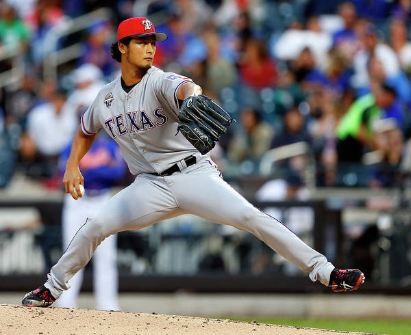 American League Baseball Poster featuring the photograph Yu Darvish by Rich Schultz