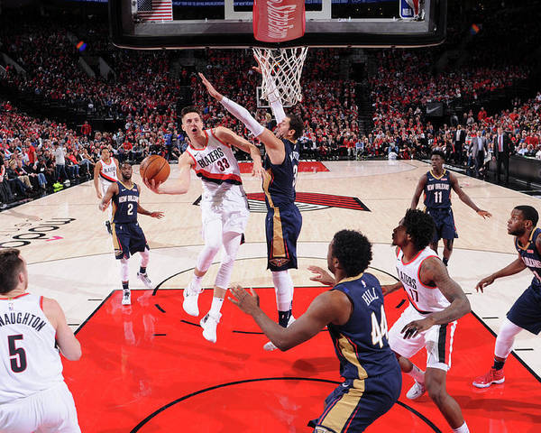 Playoffs Poster featuring the photograph Zach Collins by Cameron Browne