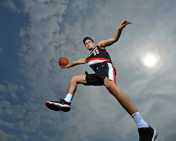 Nba Pro Basketball Poster featuring the photograph Zach Collins by Jesse D. Garrabrant