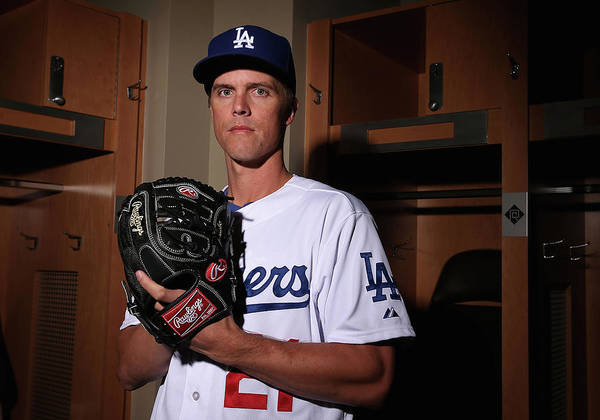 Media Day Poster featuring the photograph Zack Greinke by Christian Petersen