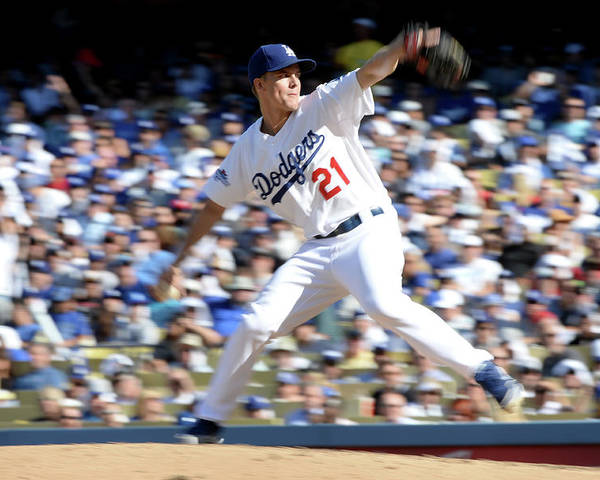 American League Baseball Poster featuring the photograph Zack Greinke by Harry How
