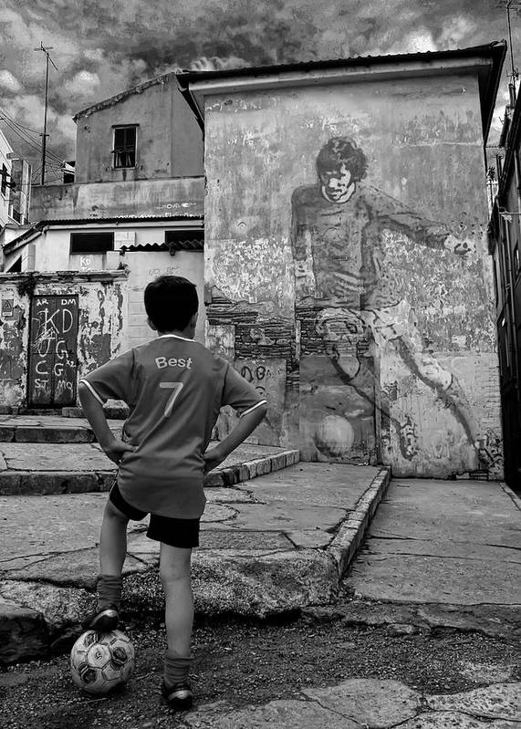 George Best Poster featuring the photograph Belfast Boy In Memory Of George Best by Donovan Torres