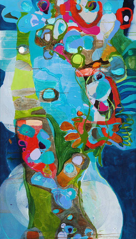 Abstract Poster featuring the painting El Arbol by Claire Desjardins