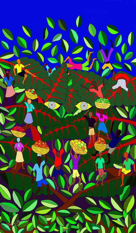 Haitian Art Poster featuring the digital art Gran Bwa by Dimitri Beaulieu