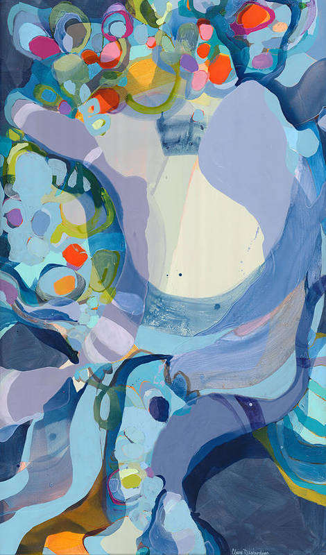 Abstract Poster featuring the painting 70 Degrees by Claire Desjardins