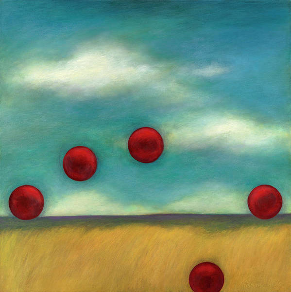 Juggling Poster featuring the painting Juggling L by Katherine DuBose Fuerst