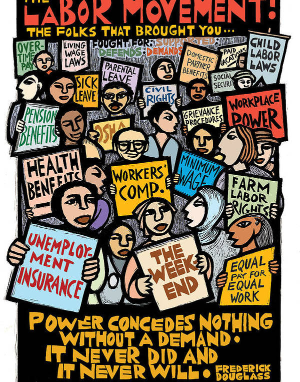 The Labor Movement by Ricardo Levins Morales