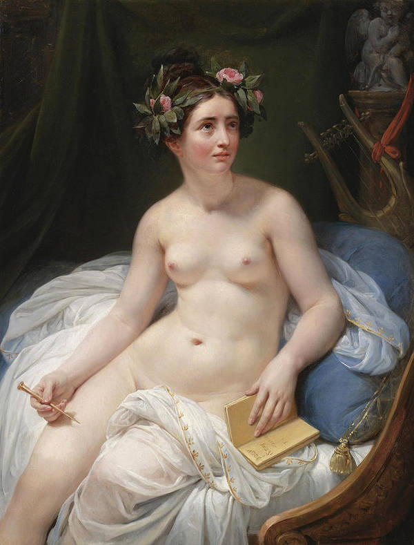 The Poetess Sappho by Circle of Jacques-Louis David