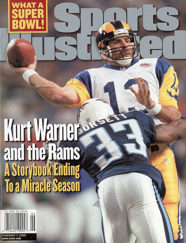 Atlanta Poster featuring the photograph St. Louis Rams Qb Kurt Warner, Super Bowl Xxxiv Sports Illustrated Cover by Sports Illustrated