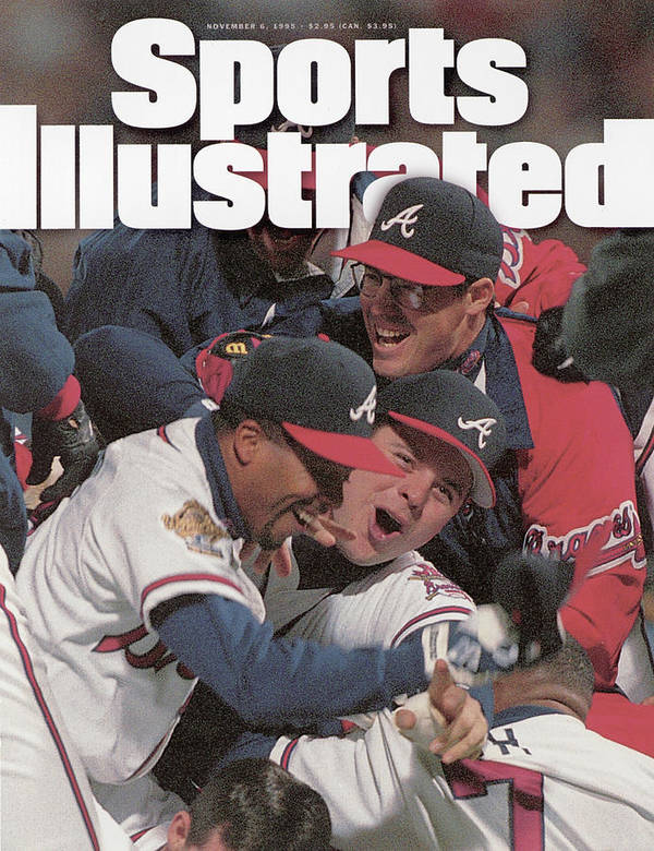 Atlanta Poster featuring the photograph Atlanta Braves, 1995 World Series Sports Illustrated Cover by Sports Illustrated