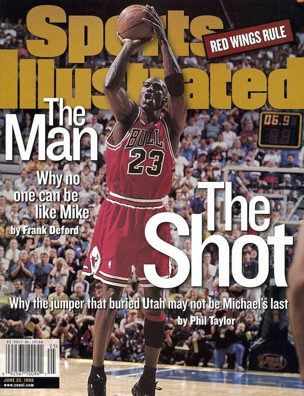 Magazine Cover Poster featuring the photograph Chicago Bulls Michael Jordan, 1998 Nba Finals Sports Illustrated Cover by Sports Illustrated