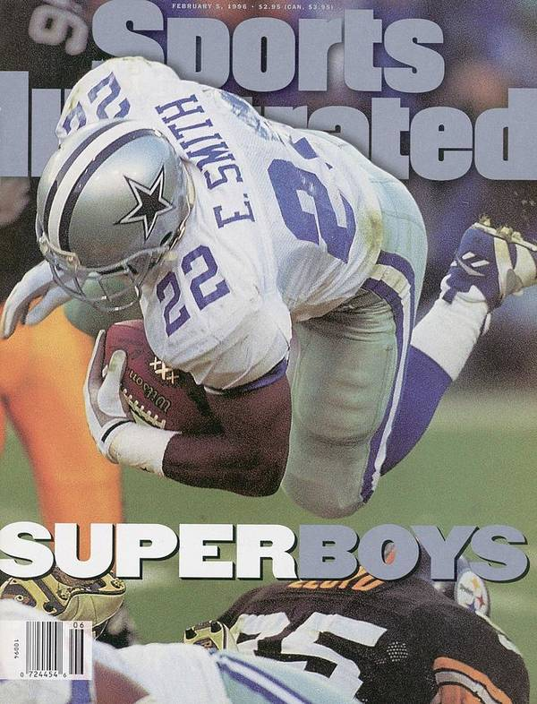 Emmitt Smith Poster featuring the photograph Dallas Cowboys Emmitt Smith, Super Bowl Xxx Sports Illustrated Cover by Sports Illustrated