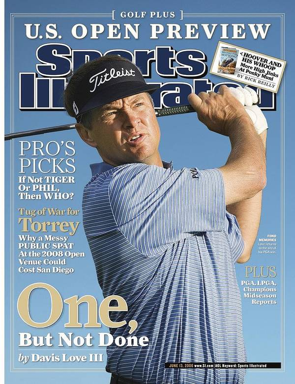 Sports Illustrated Poster featuring the photograph Davis Love IIi, 2006 Accenture World Match Play Sports Illustrated Cover by Sports Illustrated