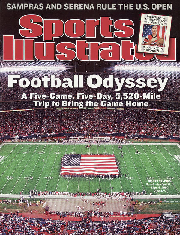 Magazine Cover Poster featuring the photograph Football Odyssey A Five-game, Five-day, 5,520-mile Trip To Sports Illustrated Cover by Sports Illustrated
