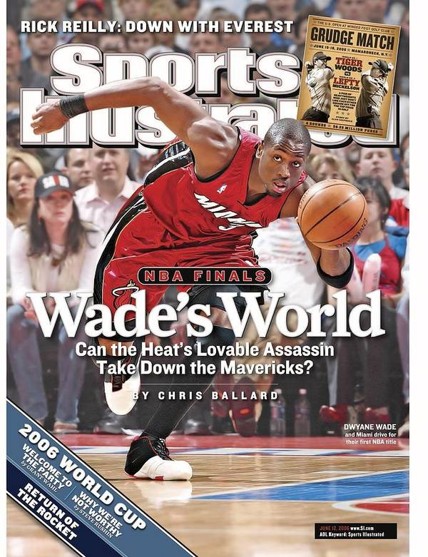 Playoffs Poster featuring the photograph Miami Heat Dwyane Wade, 2006 Nba Eastern Conference Finals Sports Illustrated Cover by Sports Illustrated