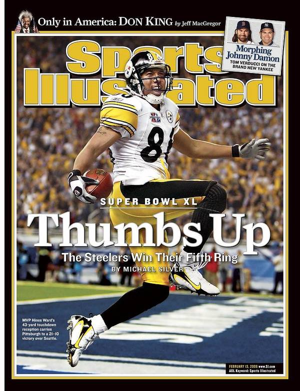 Magazine Cover Poster featuring the photograph Pittsburgh Steelers Hines Ward, Super Bowl Xl Sports Illustrated Cover by Sports Illustrated