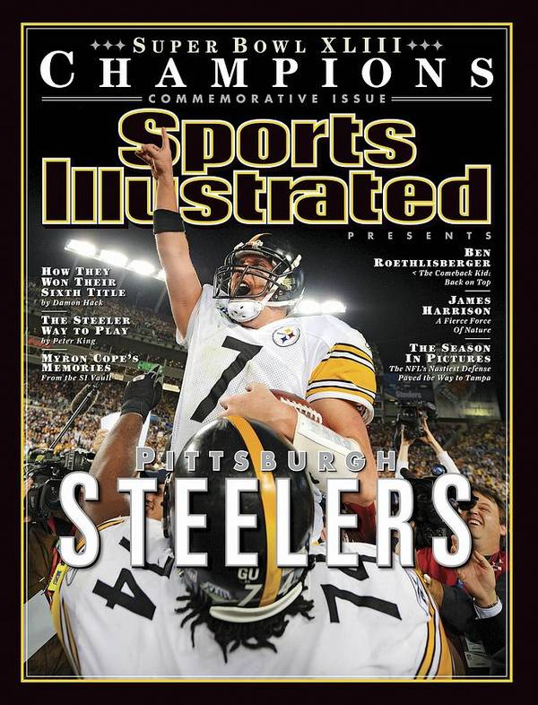 Magazine Cover Poster featuring the photograph Pittsburgh Steelers Qb Ben Roethlisberger, Super Bowl Xliii Sports Illustrated Cover by Sports Illustrated
