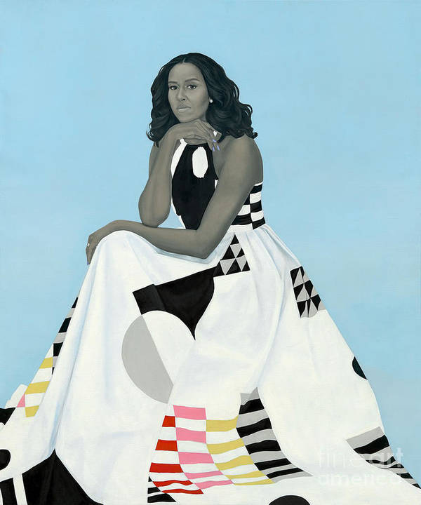 Portrait Of Michelle Obama by Margaret G Nieto