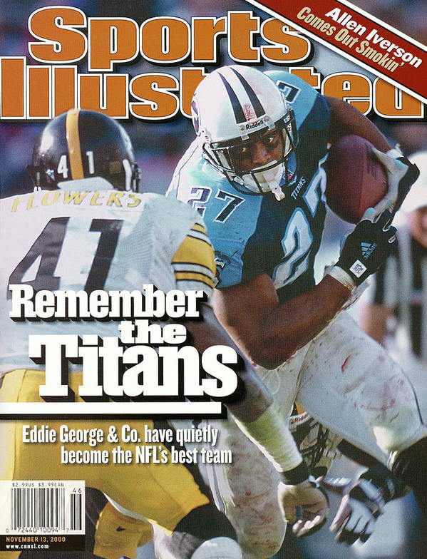 Sports Illustrated Poster featuring the photograph Tennesse Titans Eddie George... Sports Illustrated Cover by Sports Illustrated