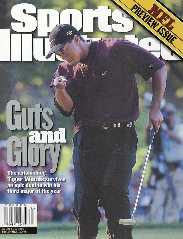 Magazine Cover Poster featuring the photograph Tiger Woods, 2000 Pga Championship Sports Illustrated Cover by Sports Illustrated