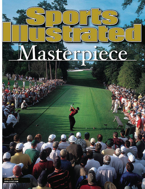 Magazine Cover Poster featuring the photograph Tiger Woods, 2001 Masters Sports Illustrated Cover by Sports Illustrated