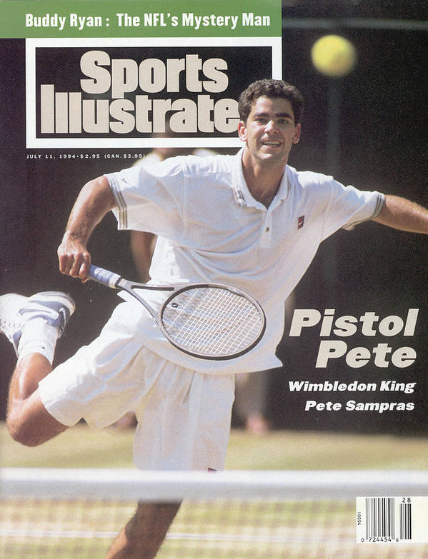 Tennis Poster featuring the photograph Usa Pete Sampras, 1994 Wimbledon Sports Illustrated Cover by Sports Illustrated
