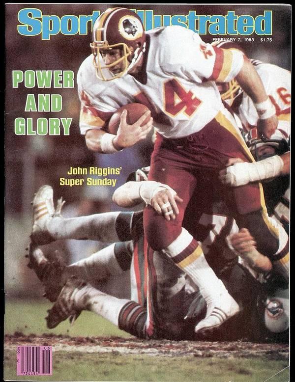 1980-1989 Poster featuring the photograph Washington Redskins John Riggins, Super Bowl Xvii Sports Illustrated Cover by Sports Illustrated
