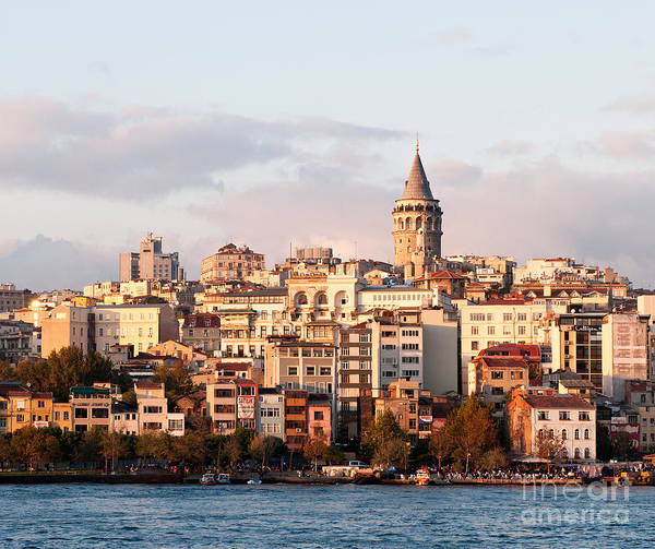 Istanbul Poster featuring the photograph Galata Skyline 01 by Rick Piper Photography