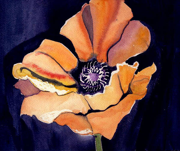 Orange Poster featuring the painting Big Orange Flower by Janet Doggett